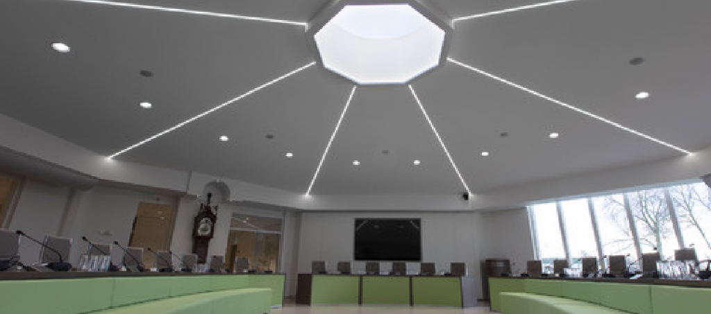 Verlichtingzaal gemaakt door Jaleco Totaal Projectafbouw