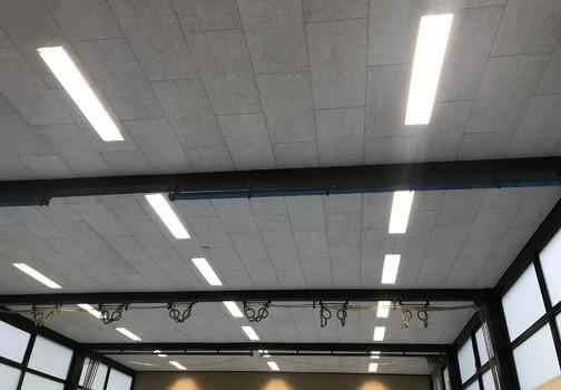 Akoestische plafonds in een gymzaal