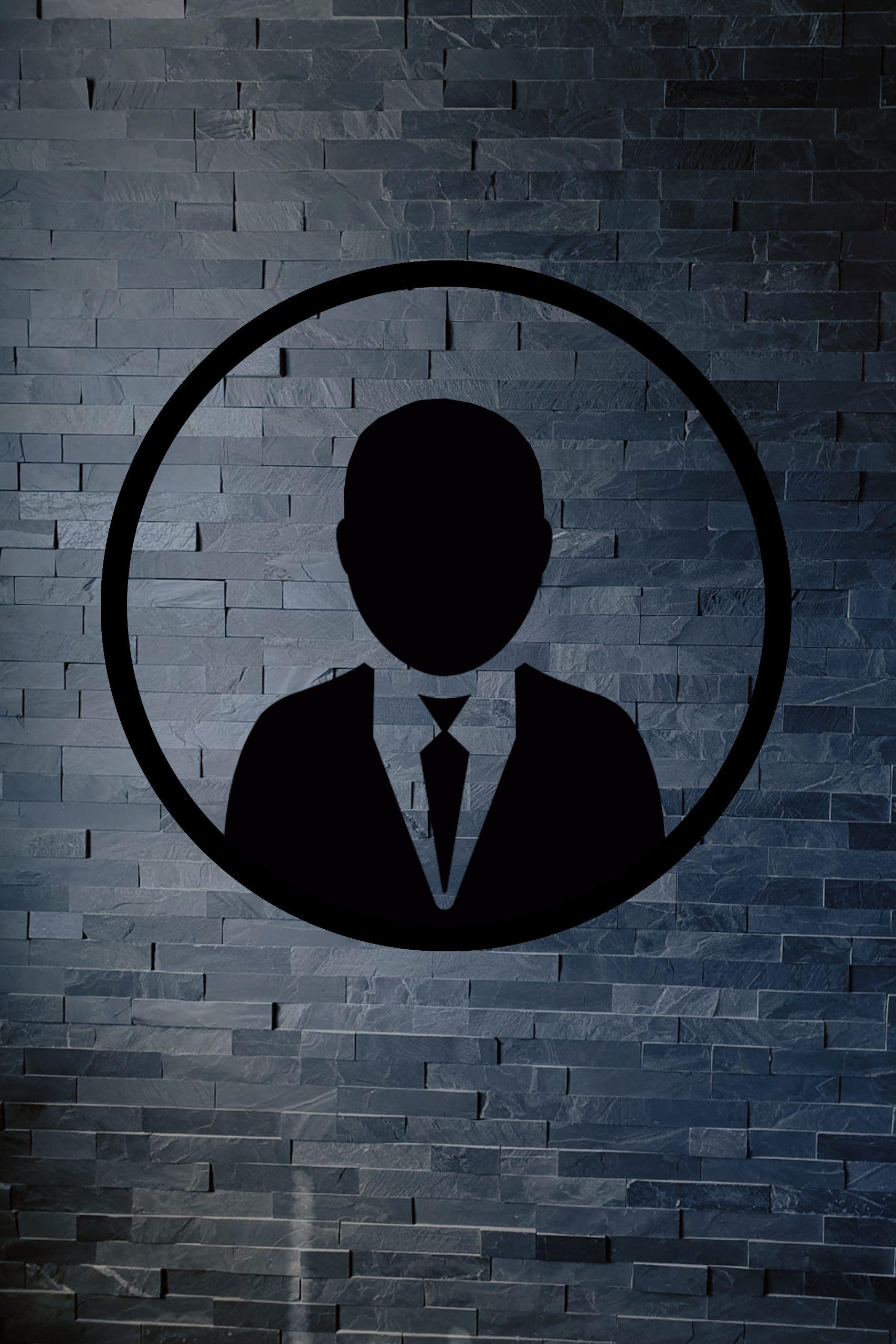 Silhouette voor ontbrekende personeelsfoto's